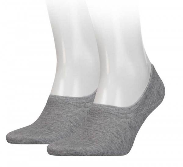 Tommy Hilfiger Sneaker sokken invisible 2-paar grijs