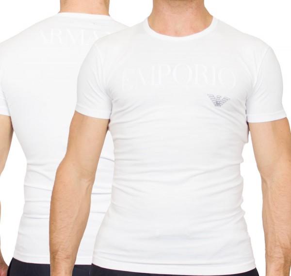 Armani T-shirt EA logo print wit