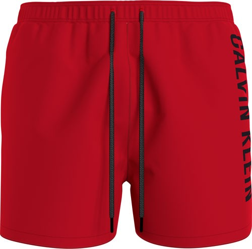Calvin Klein medium drawstring zwemshort rood
