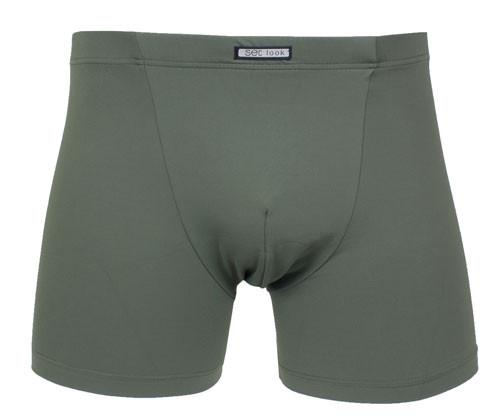 Set boxershort microfiber groen voorkant