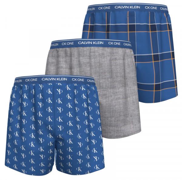 Calvin Klein slimfit boxershorts blauw-grijs