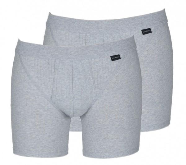 Schiesser boxershort Authentic 2-pack grijs
