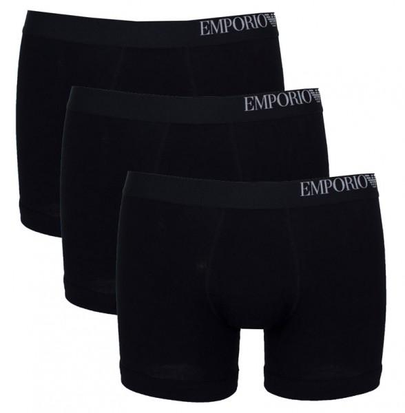 Armani boxershorts met logoband 3-pack zwart