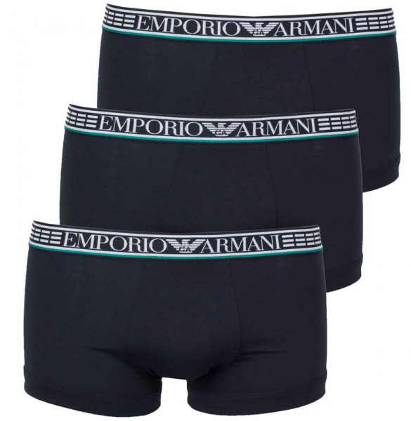 Armani boxershorts zwart Silver Fit 3-pack