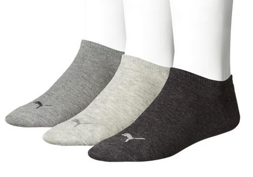 Puma sneaker sokken 3-paar grijs
