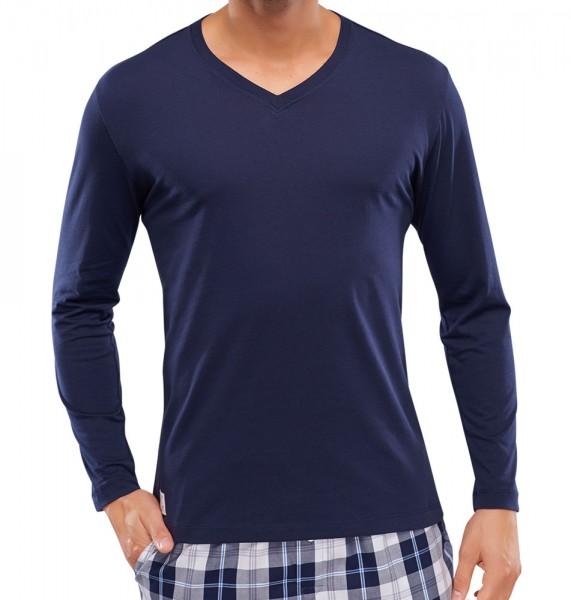 Schiesser Pyjamashirt V-hals