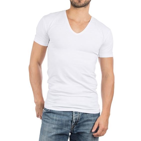 Alan Red Nov V-shirt 2-pack stretch