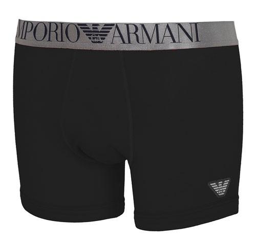 Armani shiny waistband boxershort zwart