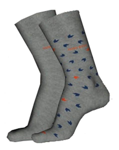 Hugo Boss heren sokken met print-effen grijs